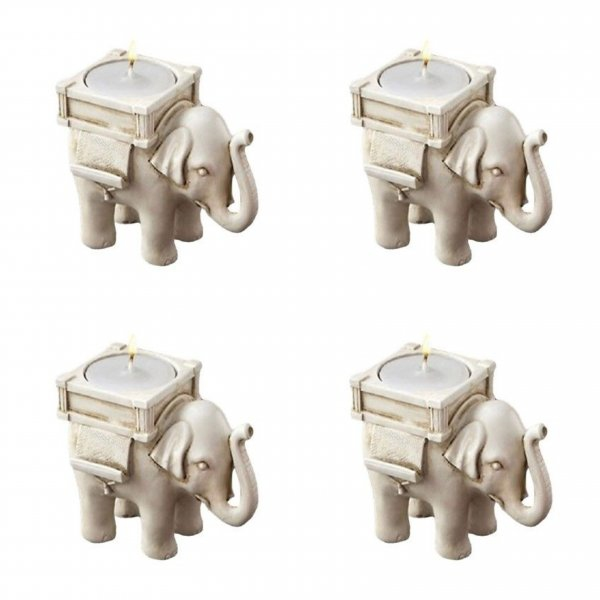Bydlení a domácnost - Adventní sada slonů na svíčku - 4 ks