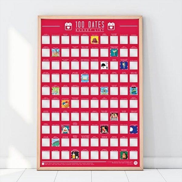 Hračky - Stírací plakát - 100 nápadů na rande různými způsoby