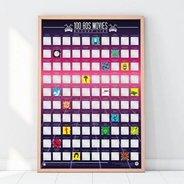 Hračky - Stírací plakát 100 nejlepších filmů - 80. léta