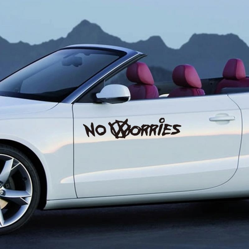 Nálepka na auto - No Worries (Bílá)