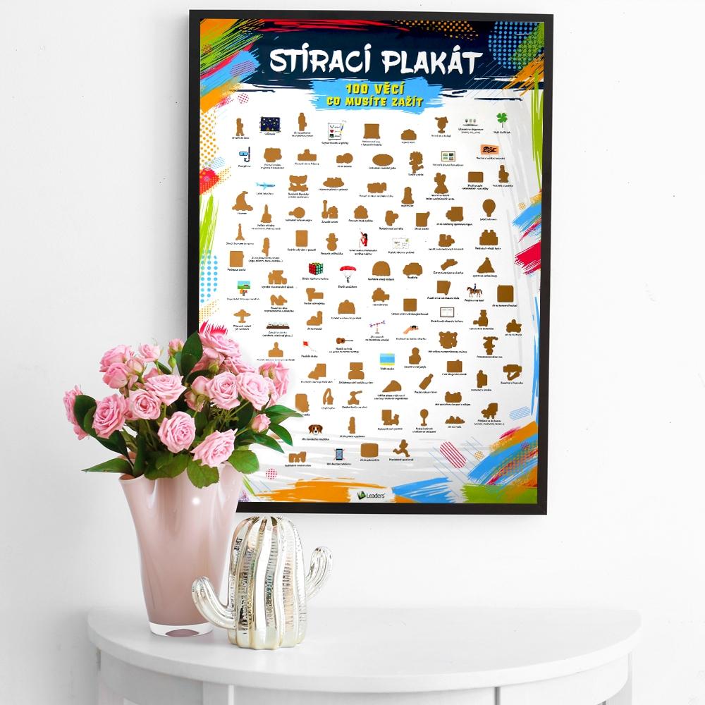 Hračky - Stírací plakát - 100 věcí co musíte zažít
