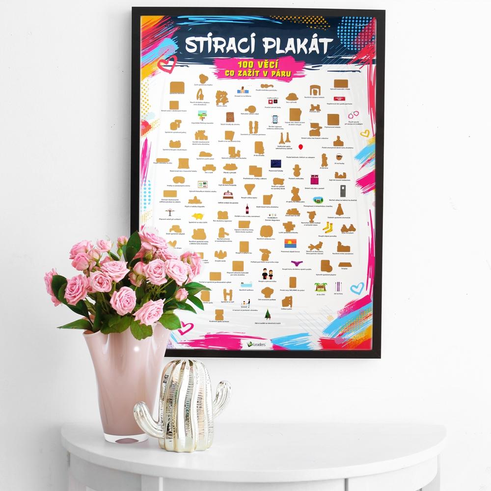 Hračky - Stírací plakát - 100 věcí co zažít v páru