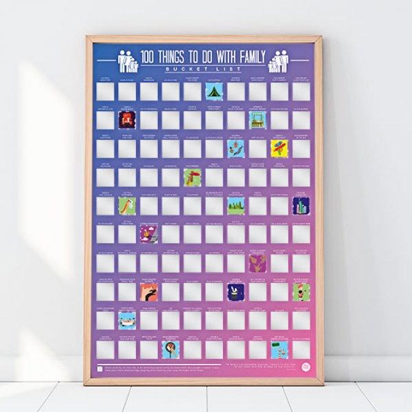 Hračky - Stírací plakát - 100 věcí, co dělat s rodinou
