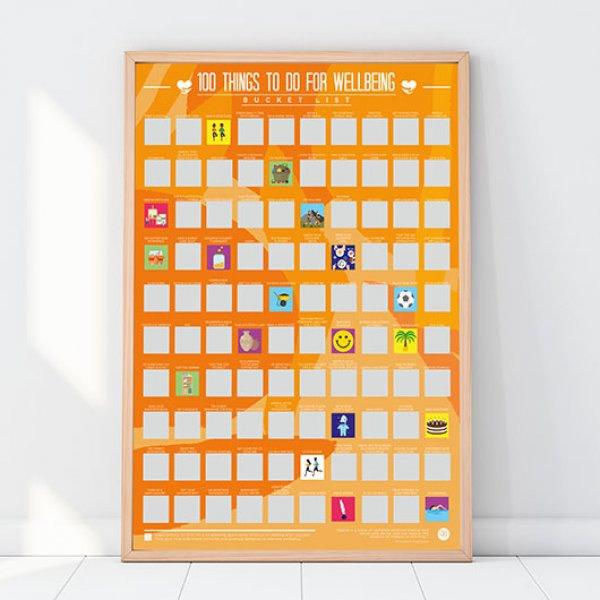 Hračky - Stírací plakát - 100 kroků k blahobytu
