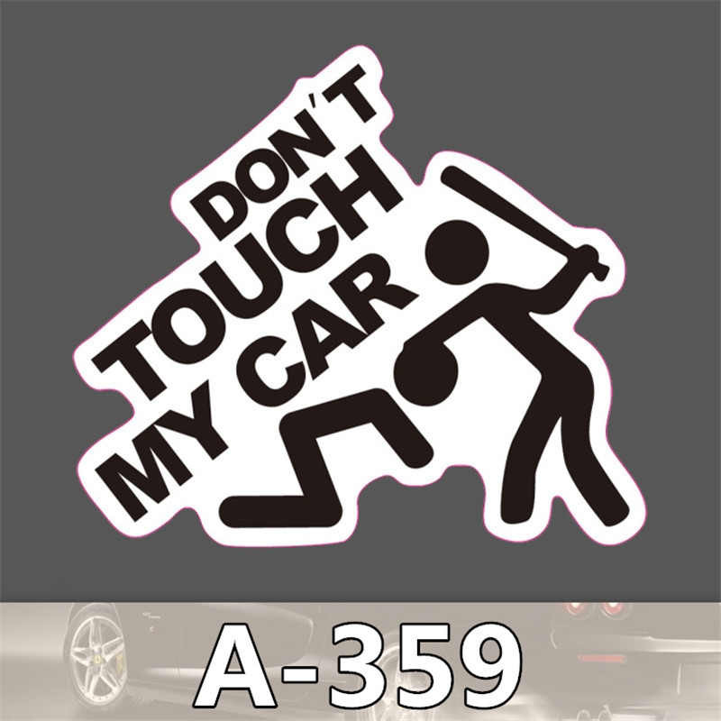 Nálepka na auto - Dont touch my car