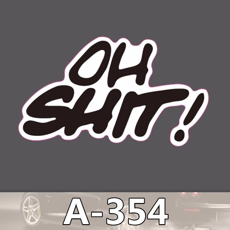 Nálepka na auto - Oh Shit