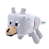 Plyšák Minecraft bílý vlk 22 cm