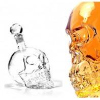 Alkoholová láhev - lebka