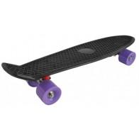 Stylový skateboard z tvrzeného plastu - Fialový
