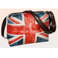 Taška přes rameno s nastavitelným popruhem (Union Jack)