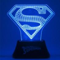 Malé akrylové světlo - Superman