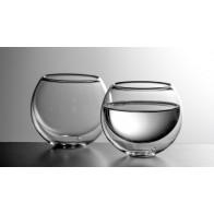 Luxusní kulatá dvoustěnná sklenička na nápoje BULBUS - dárková sada 2ks