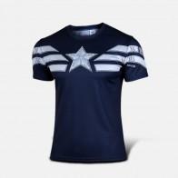 Sportovní tričko - Captain America WINTER SOLDIER - modrá