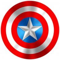 Nálepka na auto - štít Kapitán Amerika