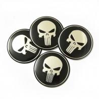 Nálepka na disky kol - Punisher lebka - 4 kusy