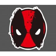 Nálepka na auto - Deadpool