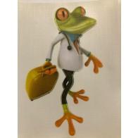 Nálepka na auto - žába doktor