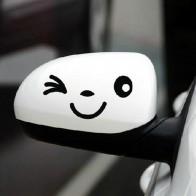 Nálepka na zrcátko - úsměv