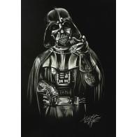 Obraz na černém papíru - Darth Vader