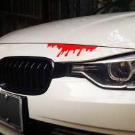 Nálepka na auto - krvácení
