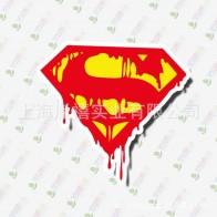Nálepka na auto - Superman logo s kapající krví