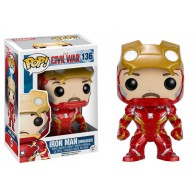 POP! Bobble Marvel: Captain America CW: Unmasked Iron Man