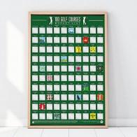 Stírací plakát - 100 golfových hřišť světa