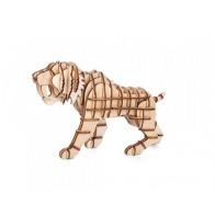 Dřevěné 3D puzzle šavlozubý tygr