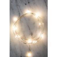 Stříbrný světelný řetěz