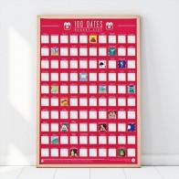 Stírací plakát - 100 nápadů na rande různými způsoby