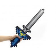 Minecraft meč dlouhý šedo-modrý
