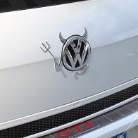 Nálepka na auto - ďábel s vidlemi